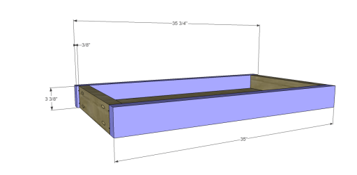 Free Plans to Build a Napa Style Inspired European Garden Table_Drawer FB