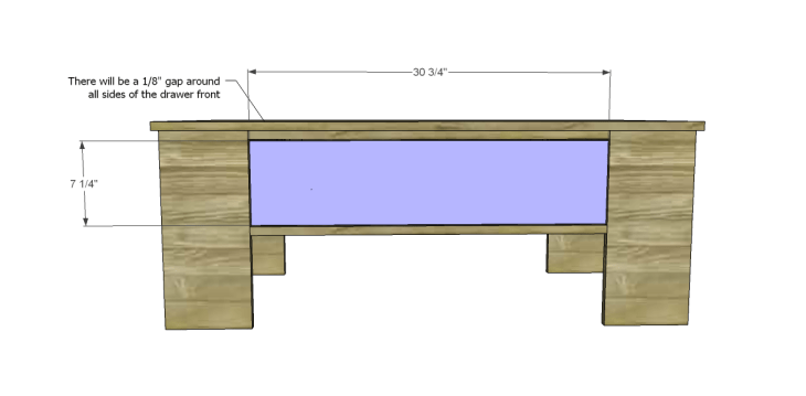 free plans to build a world market inspired ross coffee table _Drawer Front