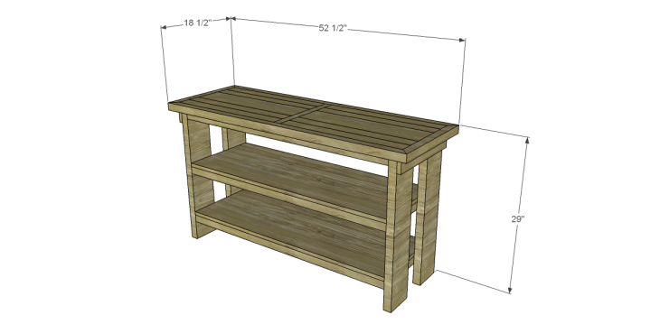 free plans to build a Hammary inspired Luberon console table