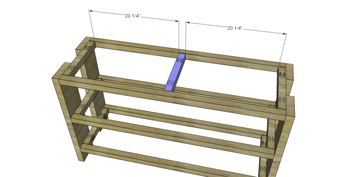 free plans to build a Hammary inspired Luberon console table_Center Support