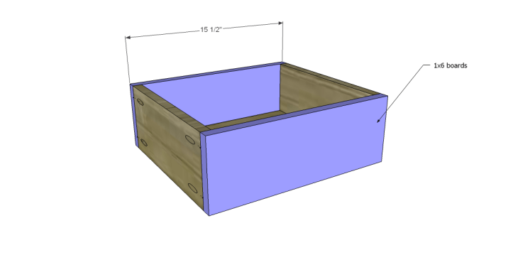 free plans to build a world market inspired garner sideboard_Drawer FB