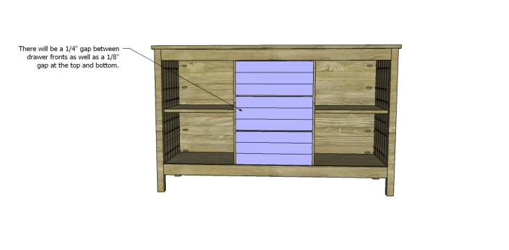 free plans to build a world market inspired garner sideboard_Drawer Fronts 2