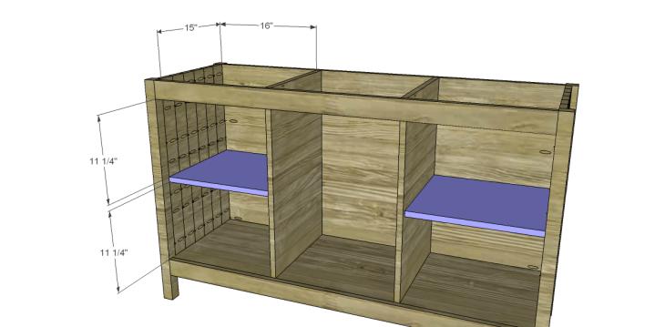free plans to build a world market inspired garner sideboard_Shelves