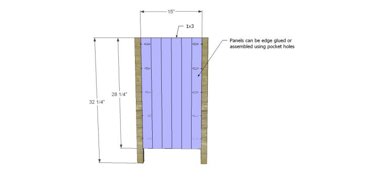 free plans to build a world market inspired garner sideboard_Sides