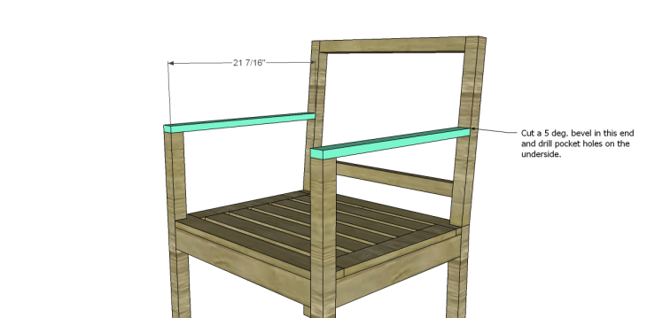 free plans to build a curvy armchair_Arms