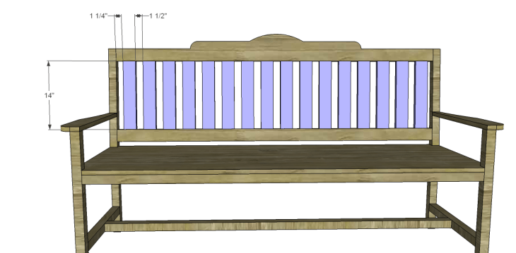 free plans to build a bench with arms_Back Slats