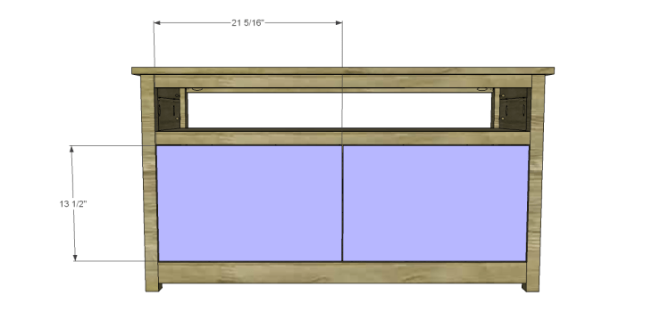 free plans to build a pier one inspired glenfield media stand_Doors