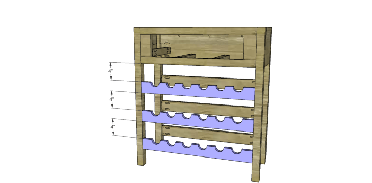 free plans to build a joss main inspired julius wine table_Bottle Shelf Fronts 2