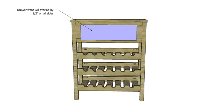 free plans to build a joss main inspired julius wine table_Drawer Front