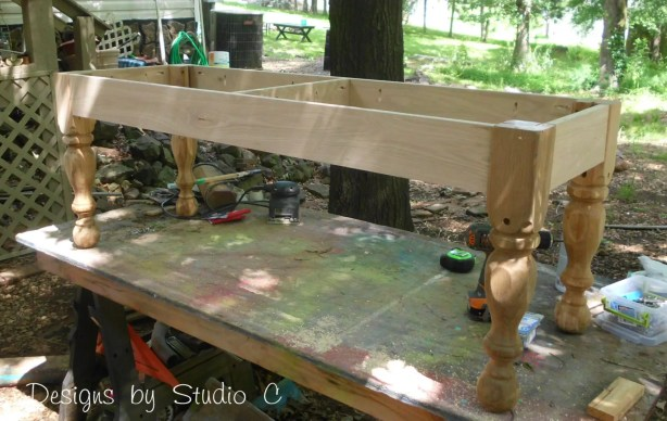 how to build a bench using an old door SANY2226
