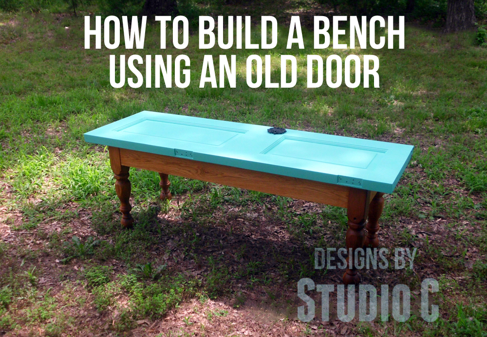 How To Build A Bench Using An Old Door SANY2238