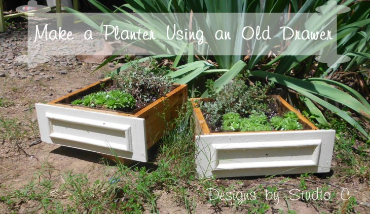 Use Old Drawer Boxes For Planters