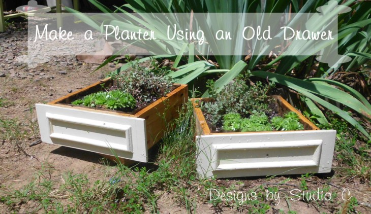 Collection of DIY Plans to Build Planter Boxes_Old Drawers