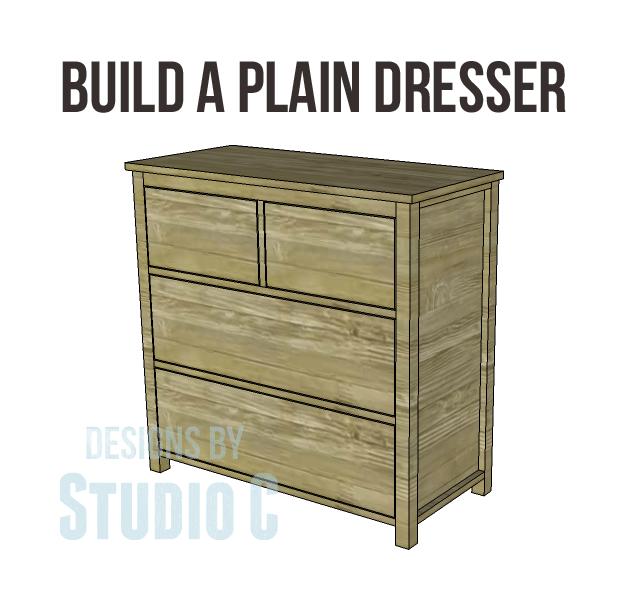 Easy Build Drawers ~ Build a plain dresser