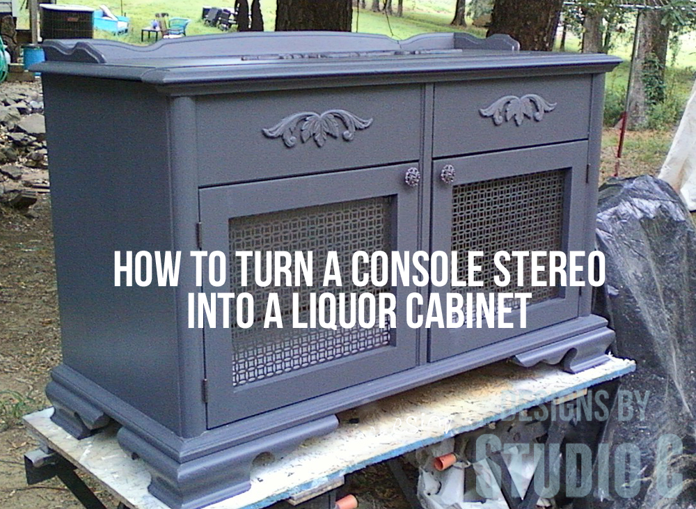 How To Turn A Console Stereo Into A Liquor Cabinet Photo07221443 Copy