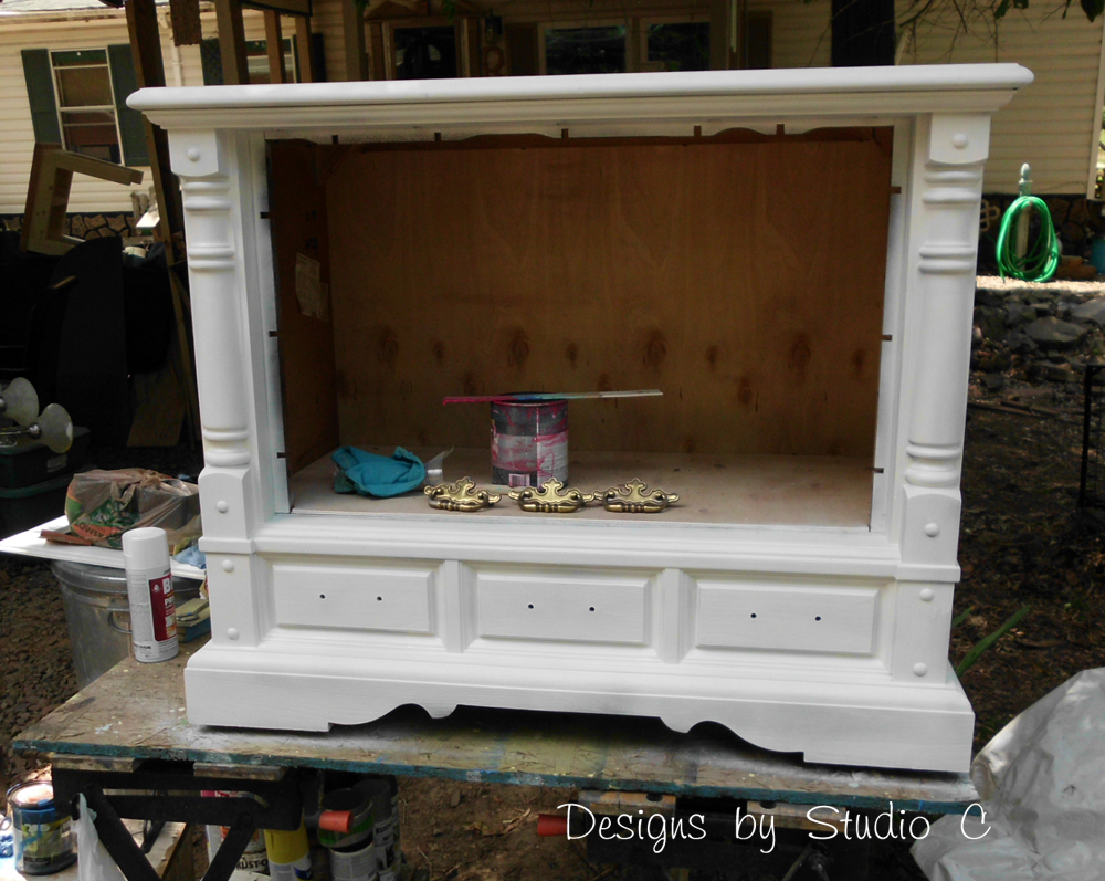 How To Revamp An Old Console Tv Cabinet
