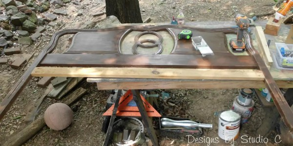 How to Build a Bench Using an Old Headboard 3