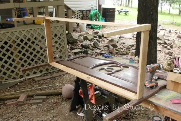 How to Build a Bench Using an Old Headboard 5