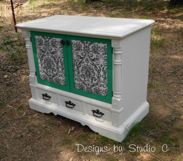 How to Revamp an Old Console TV Cabinet 9
