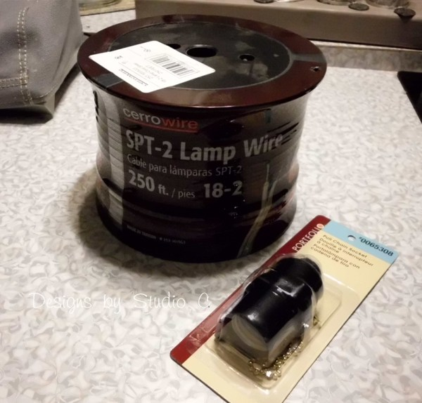 how to rewire a light fixture to use a plug SANY2428