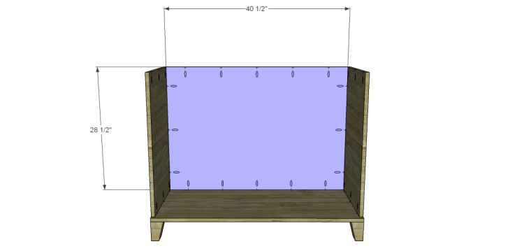 free DIY woodworking plans to build a two door sideboard_Back