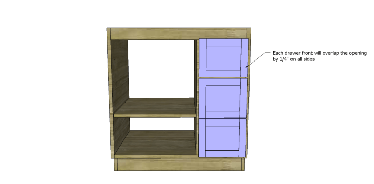 free DIY woodworking plans to build a custom bath vanity_Drawer Fronts 2