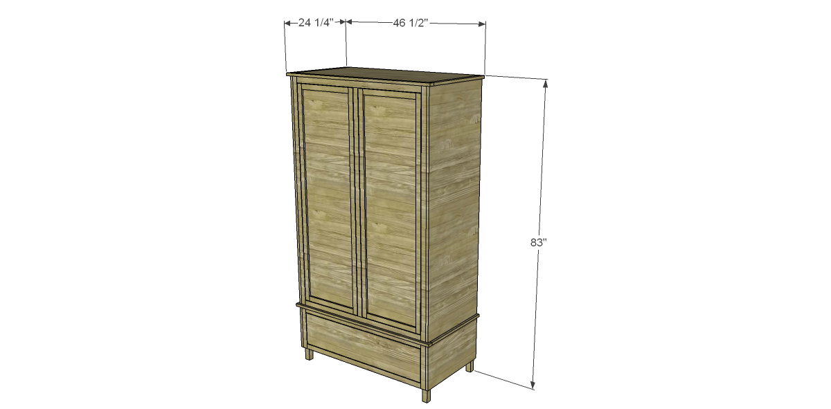 Free diy woodworking plans to build a large armoire for Wardrobe cabinet design woodworking plans