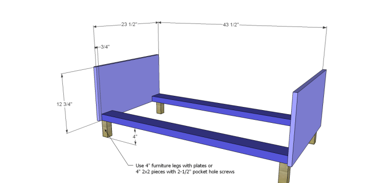 free DIY woodworking plans to build a large armoire_Base