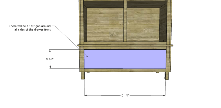 free DIY woodworking plans to build a large armoire_Drawer Front