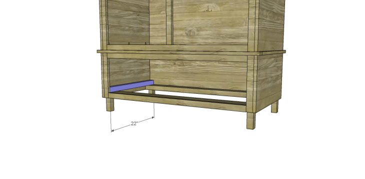 free DIY woodworking plans to build a large armoire_Drawer Slide Spacers
