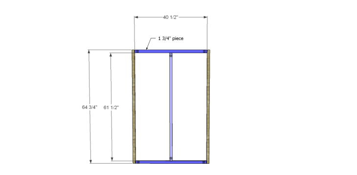 free DIY woodworking plans to build a large armoire_Front Frame 1