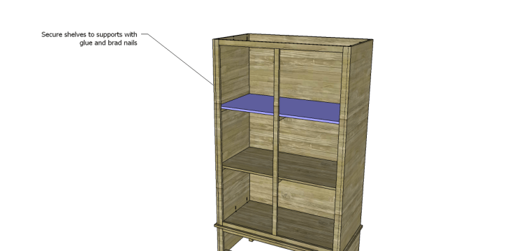 free DIY woodworking plans to build a large armoire_Shelves 2