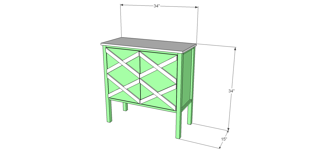 Free DIY Woodworking Plans to Build a Criss-Cross Cabinet