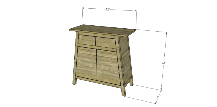 free DIY woodworking plans to build an asian style cabinet