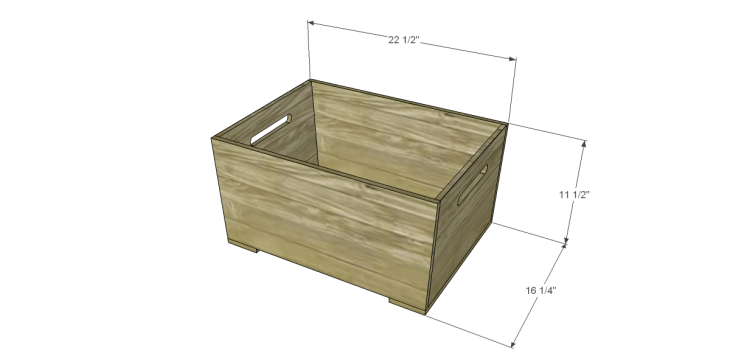 free DIY woodworking plans for a plywood multi use crate