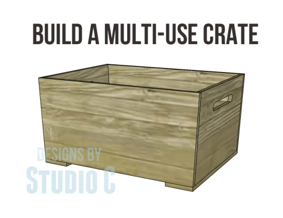 free DIY woodworking plans for a plywood multi use crate_Copy