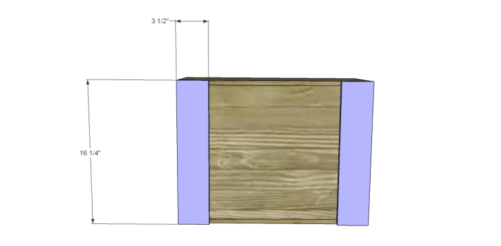 free DIY woodworking plans for a plywood multi use crate_Feet