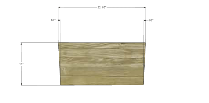free DIY woodworking plans for a plywood multi use crate_Front & Back