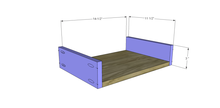free DIY woodworking plans to build a monterrey side table_Drawer BS