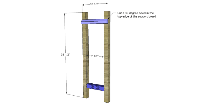 free DIY woodworking plans to build a ladder end table_Legs
