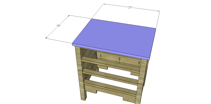 free DIY woodworking plans to build a monterrey side table_Top