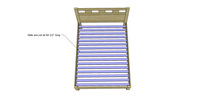riva queen bed plans_Slats