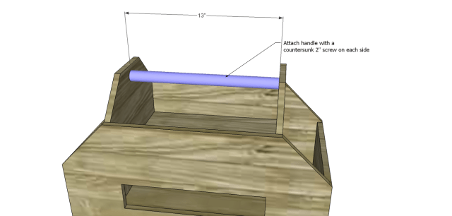 diy plans toolbox_Handle