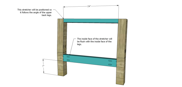 wood chair plans - low slung_Back Frame