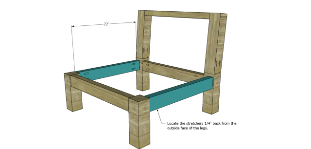 wood chair plans - low slung_Side Stretchers