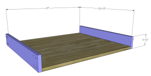 diy desk plans - ainsworth_Center Drawer BS