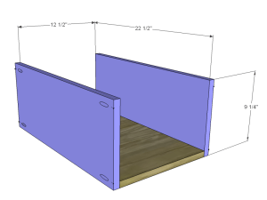 diy desk plans - ainsworth_Lg Drawer BS