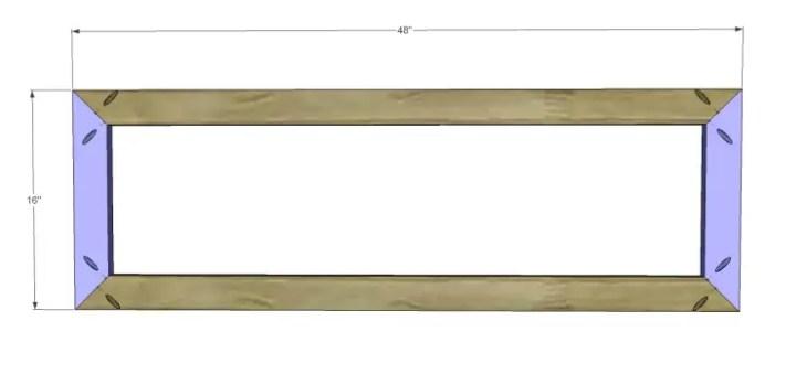 build diagonal slat bench_Seat Frame