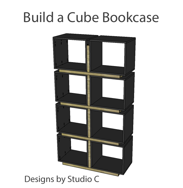A Collection of DIY Plans to Build Bookcases_Cube Bookcase