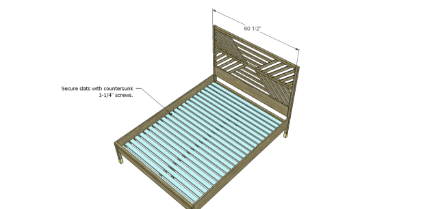 diy bed plans - diagonal QBed_Slats